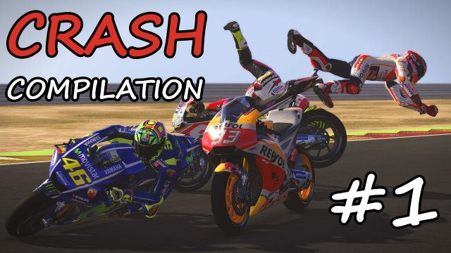 MotoGP 17 Crash Compilation #1