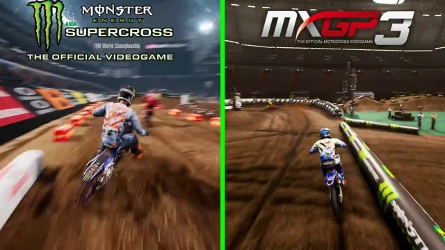 Monster Energy Supercross the Game VS MXGP3 Gameplay Comparison video