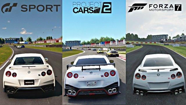 GRAN TURISMO SPORT vs PROJECT CARS 2 vs FORZA 7 [4k Graphics Gameplay Comparison]