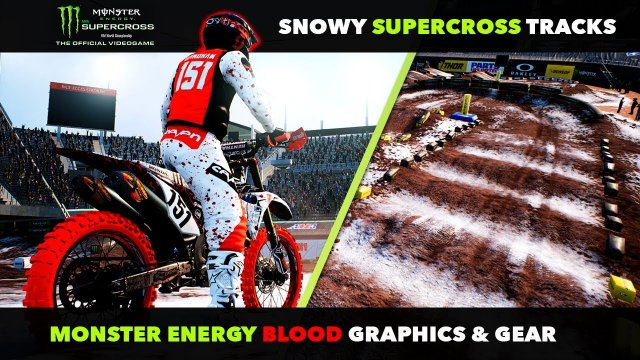 Snow Tracks In Supercross The Game! - New Blood Monster Energy Graphics!