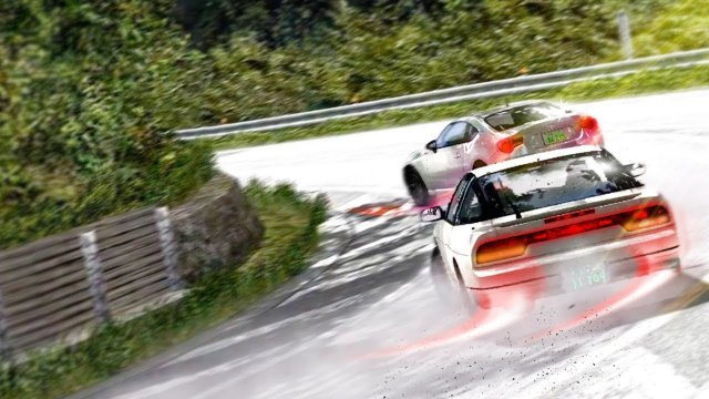 Racing Kenji In His 180SX At Usui Pass Initial D 8 English #2