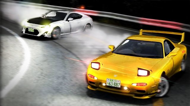 Racing Keisuke In His RX7 At Akina Downhill Initial D 8 English #5