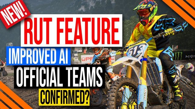 MXGP 2019 Game | Ruts Feature, Improved AI, and Official Teams in Career