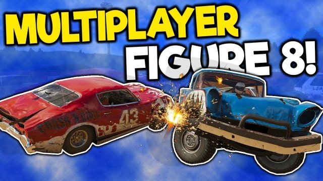 Insane Figure 8 Multiplayer Races & Crashes! - Wreckfest Multiplayer Gameplay