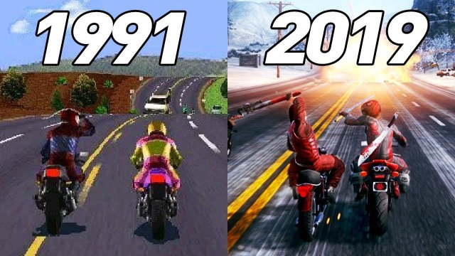 History Of Road Rash - All Games ( 1991 to 2019 )