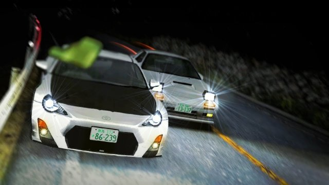Racing Ryosuke In His RX7 FC At Akagi Downhill Initial D 8 English #9