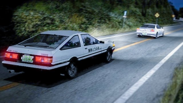 Racing Takumi In His Toyota Sprinter At Akina Downhill Initial D 8 English #13