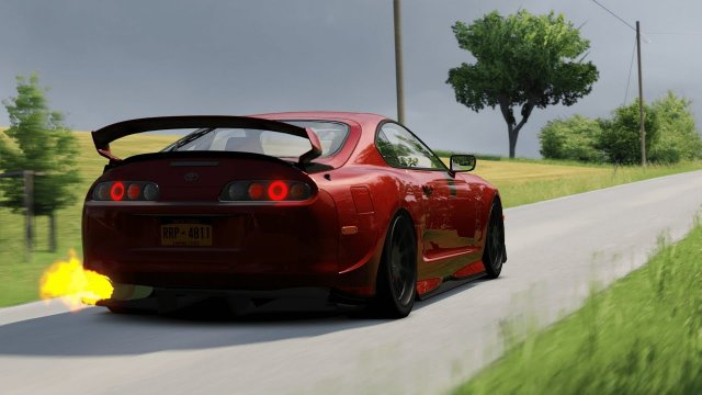 1300Bhp Tuned Toyota Supra on Countryside roads / Assetto Corsa