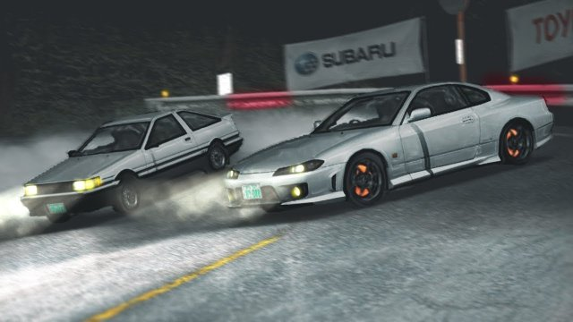 Racing Wataru In His Turbo AE86 At Akagi Downhill Initial D 8