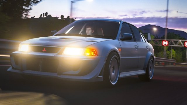 Driving Maki's Evolution VI GSR From Wangan Midnight Forza Horizon 4