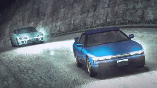 Mako And Sayuki Rematch In Their SilEighty At Usui Pass Initial D 8 English #21