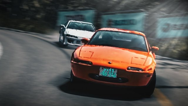 Racing Toru In His Mazda Miata At Momiji Line Downhill Initial D 8 English #25