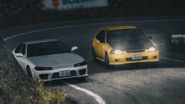 Racing Tomoyuki In His Spoon Civic Type R At Happogahara Inbound Initial D 8 English #27