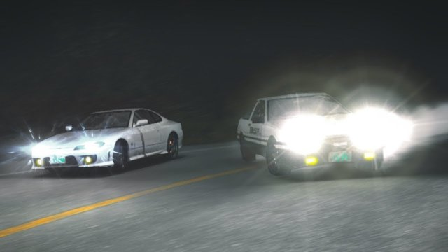 Racing Takumi Fujiwara In His AE86 At Momiji Downhill Initial D 8 English #31