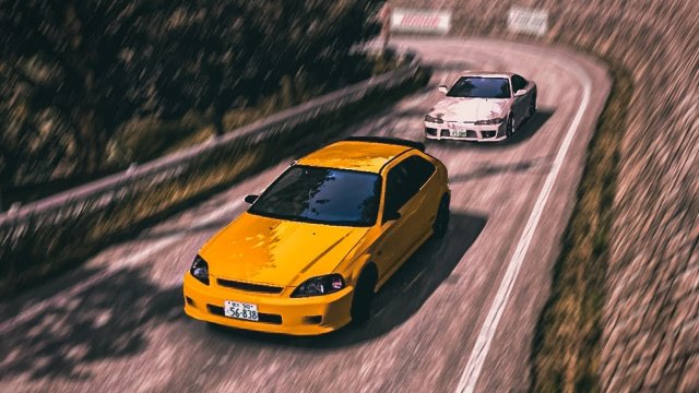 Daiki Ninomiya Rematch In His EK9 Civic At Happogahara Outbound Initial D 8 English #33