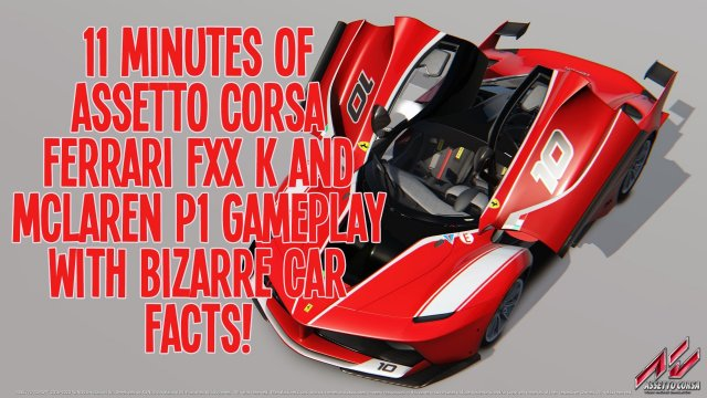 11 Minutes of Assetto Corsa Gameplay Featuring Bizarre Car Facts [1080p, 60fps]